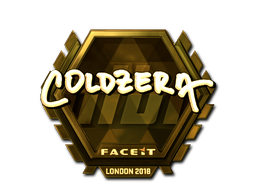 Sticker | coldzera (Gold) | London 2018