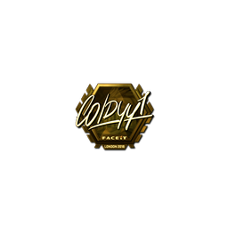 Sticker | COLDYY1 (Gold) | London 2018