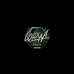 Sticker   COLDYY1 (Foil)   London 2018