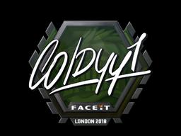Наклейка | COLDYY1 | Лондон 2018