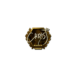 Sticker | chrisJ (Gold) | London 2018