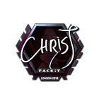 Sticker | chrisJ (Foil) | London 2018