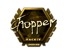 Sticker | chopper (Gold) | London 2018