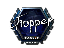 Sticker | chopper (Foil) | London 2018