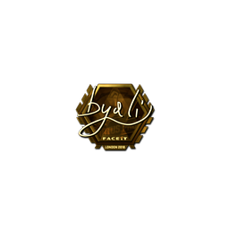 Sticker | byali (Gold) | London 2018