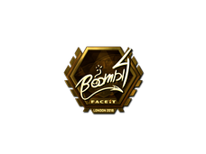 Skin Sticker | Boombl4 (Gold) | London 2018