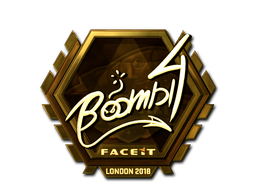 Sticker | Boombl4 (Gold) | London 2018