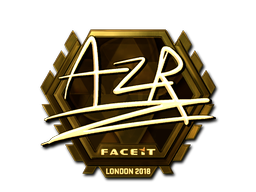 Sticker | AZR (Gold) | London 2018