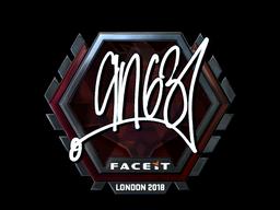 Наклейка | ANGE1 (металлическая) | Лондон 2018