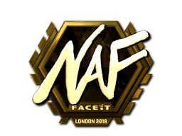 Sticker | NAF (Gold) | London 2018