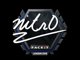 Sticker | nitr0 | London 2018