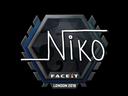 Sticker | niko  | London 2018