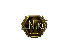 Skin Sticker | niko (Gold)  | London 2018