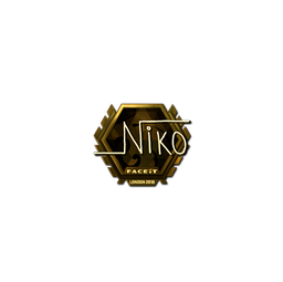 Sticker | niko (Gold)  | London 2018