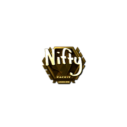 Sticker | Nifty (Gold) | London 2018