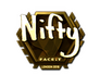 Skin Sticker | Nifty (Gold) | London 2018