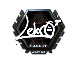 Наклейка | Lekr0 (металлическая) | Лондон 2018