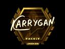Sticker | karrigan (Gold) | London 2018