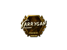 Skin Sticker | karrigan (Gold) | London 2018