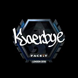 Kjaerbye (Foil) | London 2018