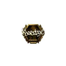 Sticker | Kjaerbye (Gold) | London 2018