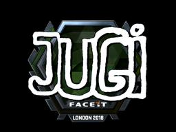 Наклейка | JUGi (металлическая) | Лондон 2018