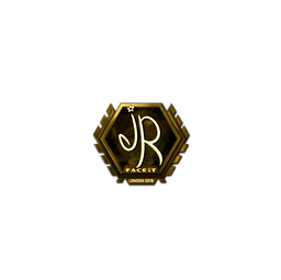 Sticker | jR (Gold) | London 2018