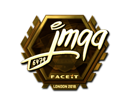 Sticker | jmqa (Gold) | London 2018