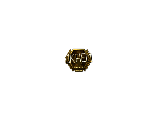 Sticker | jkaem (Gold) | London 2018