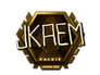 Skin Sticker | jkaem (Gold) | London 2018