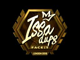 Sticker   ISSAA (Gold)   London 2018