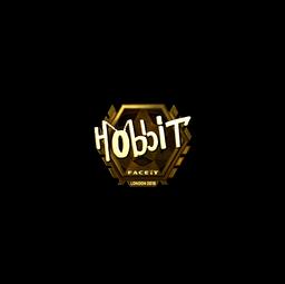 Sticker   Hobbit (Gold)   London 2018