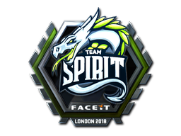 Sticker | Team Spirit (Foil) | London 2018
