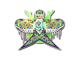 Sticker | Green Swallow