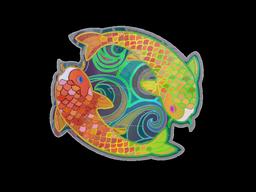 Sticker | Twin Koi (Holo)