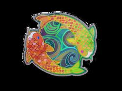 Наклейка | Карпы-близнецы (голографическая)