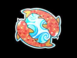 Sticker | Twin Koi