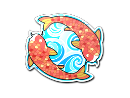 Sticker | Twin Koi
