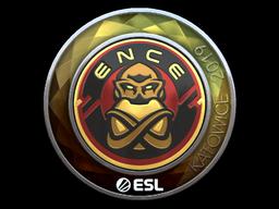 Наклейка | ENCE (металлическая) | Katowice 2019