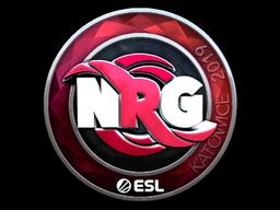 Наклейка | NRG (металлическая) | Katowice 2019