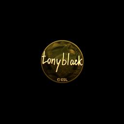 Sticker | tonyblack (Gold) | Katowice 2019