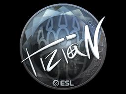 Наклейка | tiziaN (металлическая) | Катовице 2019
