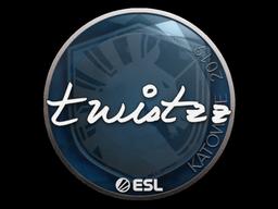 Наклейка | Twistzz | Катовице 2019