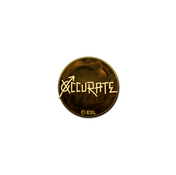 Sticker | xccurate (Gold) | Katowice 2019