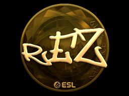 Sticker | REZ (Gold) | Katowice 2019