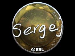 Наклейка | sergej (металлическая) | Катовице 2019