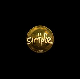 Sticker | s1mple (Gold) | Katowice 2019