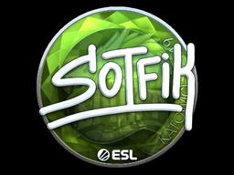 Наклейка | S0tF1k (металлическая) | Катовице 2019