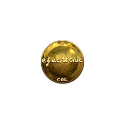 Sticker | electronic (Gold) | Katowice 2019