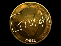 Sticker | Gratisfaction (Gold) | Katowice 2019